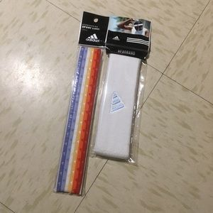 Colorful Sports bands and white headbands bundle